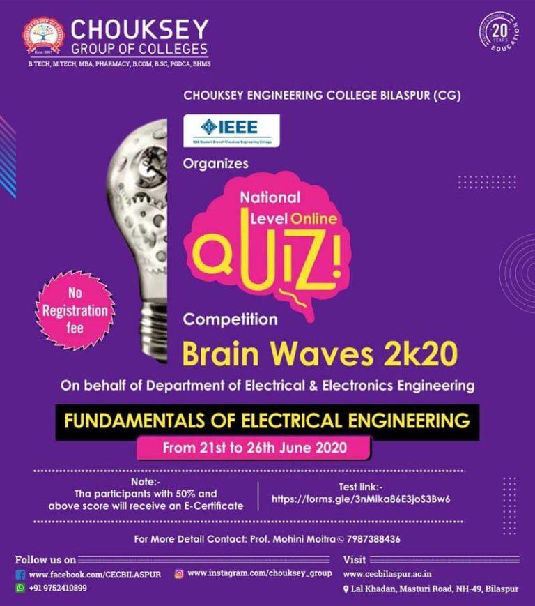 National Level Online Quiz