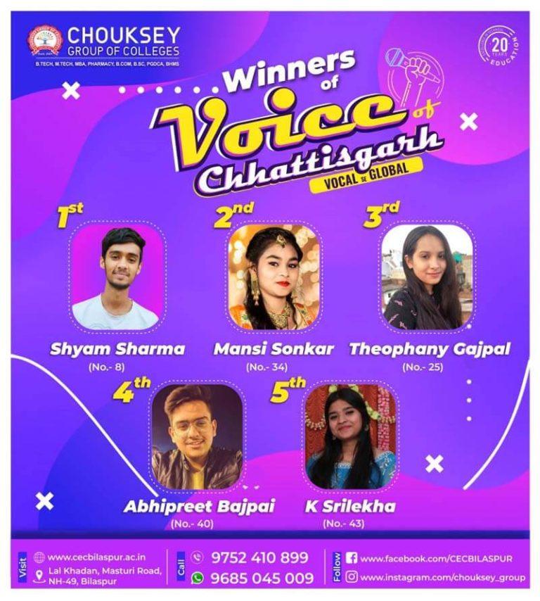 Winners of Voice Chhattisgarh